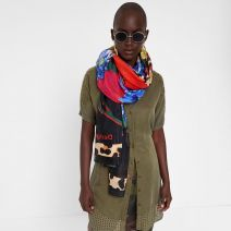 Foulard rectangle Desigual Ame Sœur