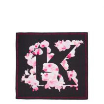 Foulard carré soie Karl Lagerfeld K/Orchid