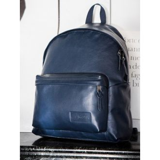 Sac à Dos Cuir Eastpak Padded Pak'r - Navy Leather