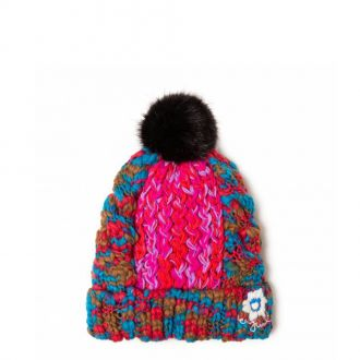 Bonnet en tricot Desigual Mix and Twist