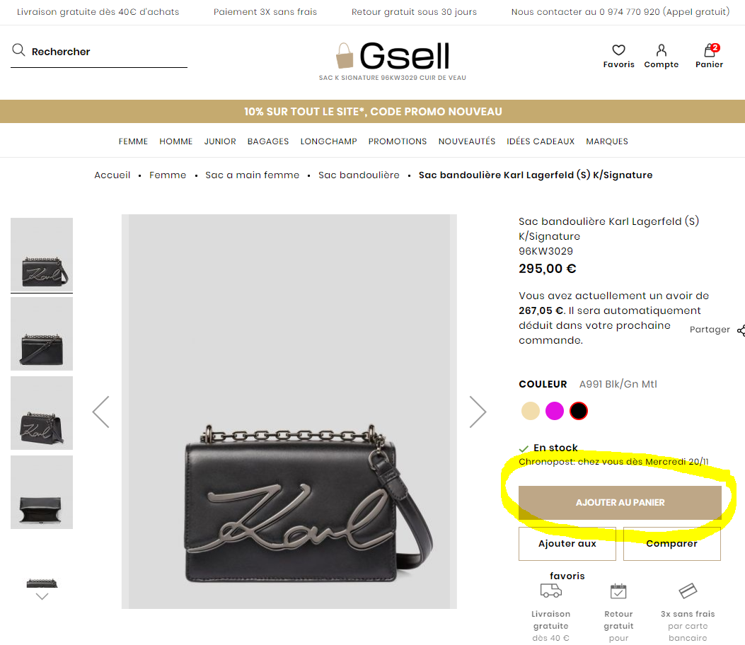 page produit gsell