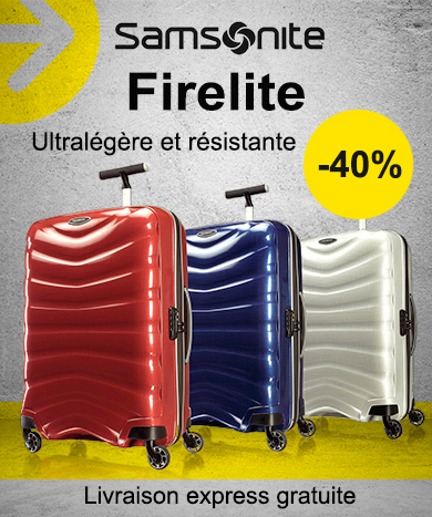 23815f2a06 Samsonite Firelite à -40% minimum. La valise ...